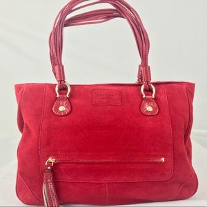 Kate Spade Large Suede & Leather Tote Bag RARE